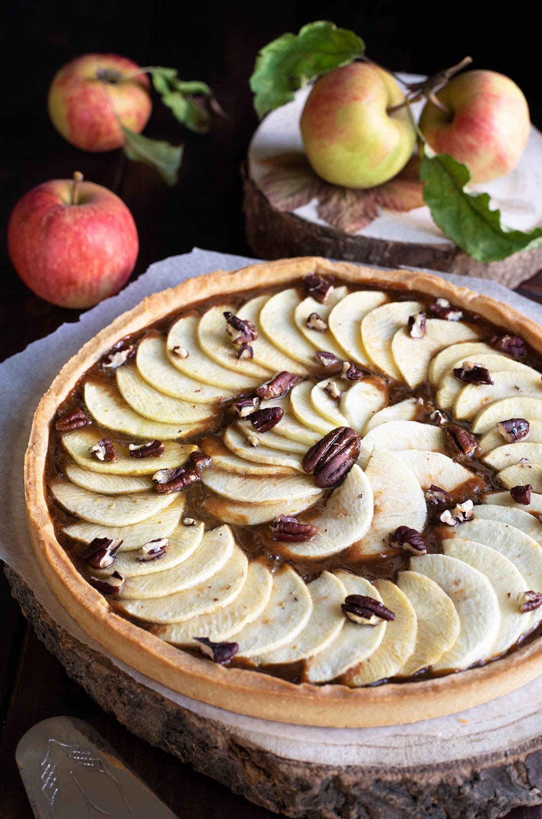 tarte aux pommes et à la confiture de lait