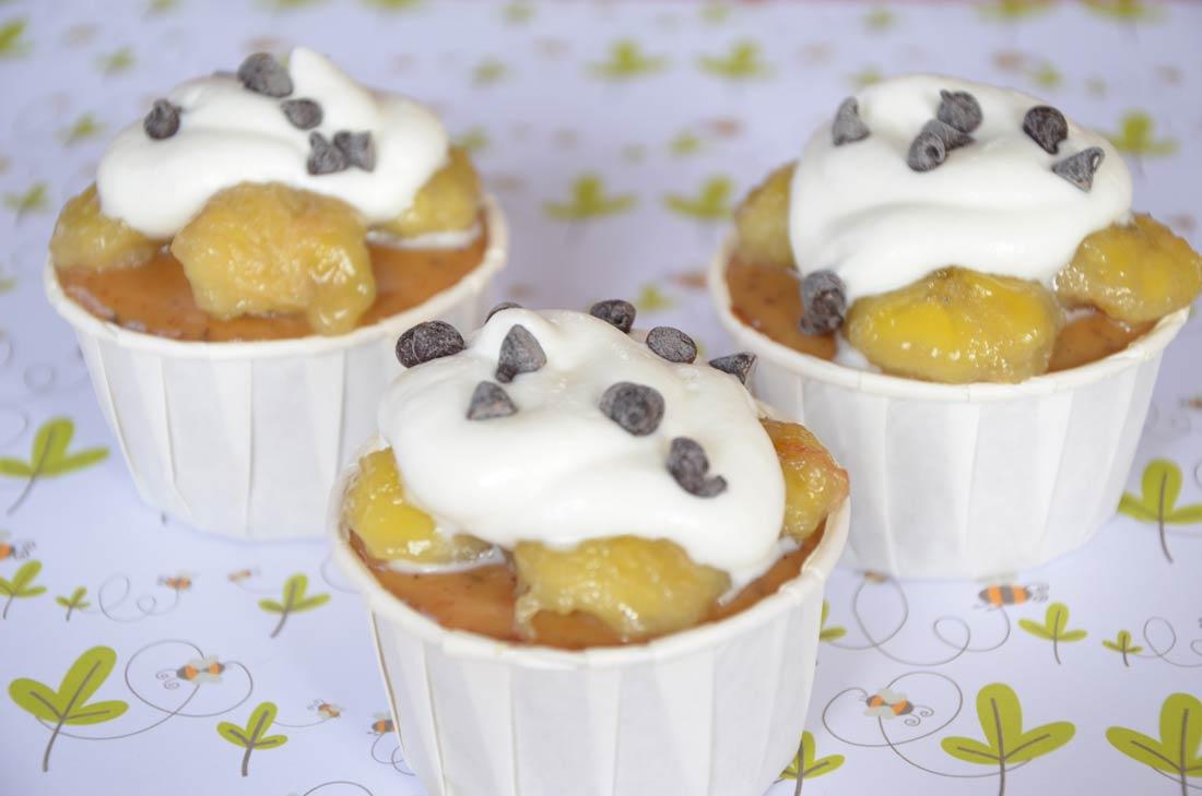 Recette de Banoffee cupcakes à la banane et au caramel