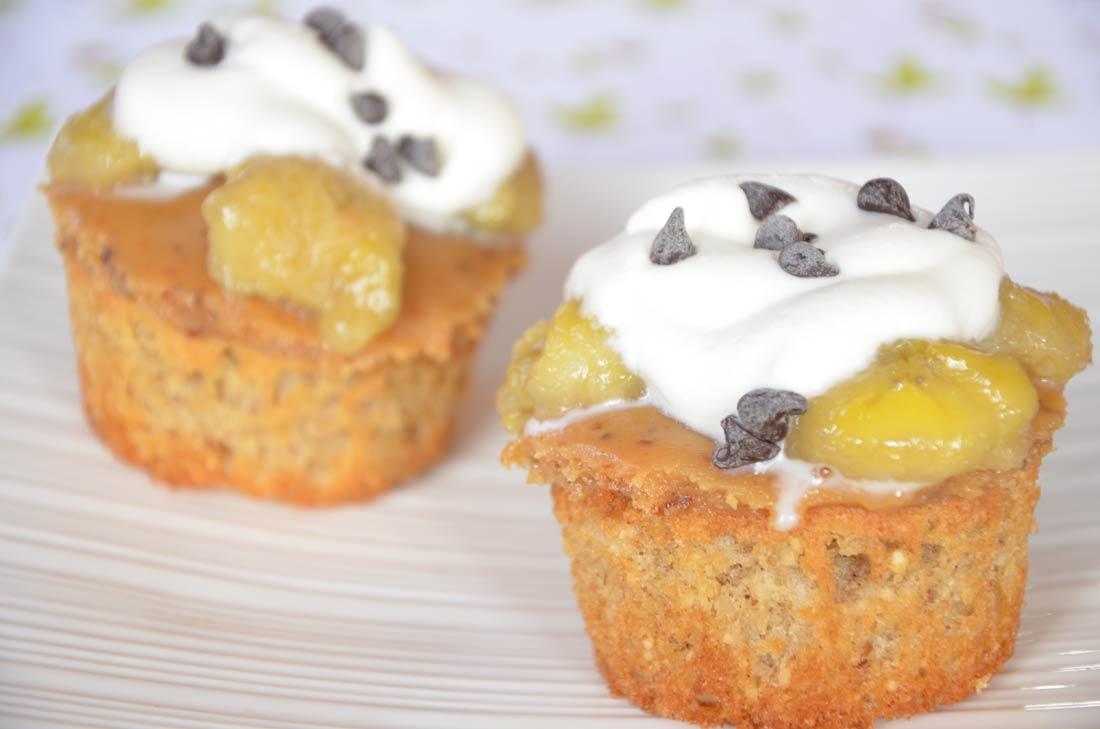 Recette de banoffee cupcakes à la banane au chocolat et confiture de lait