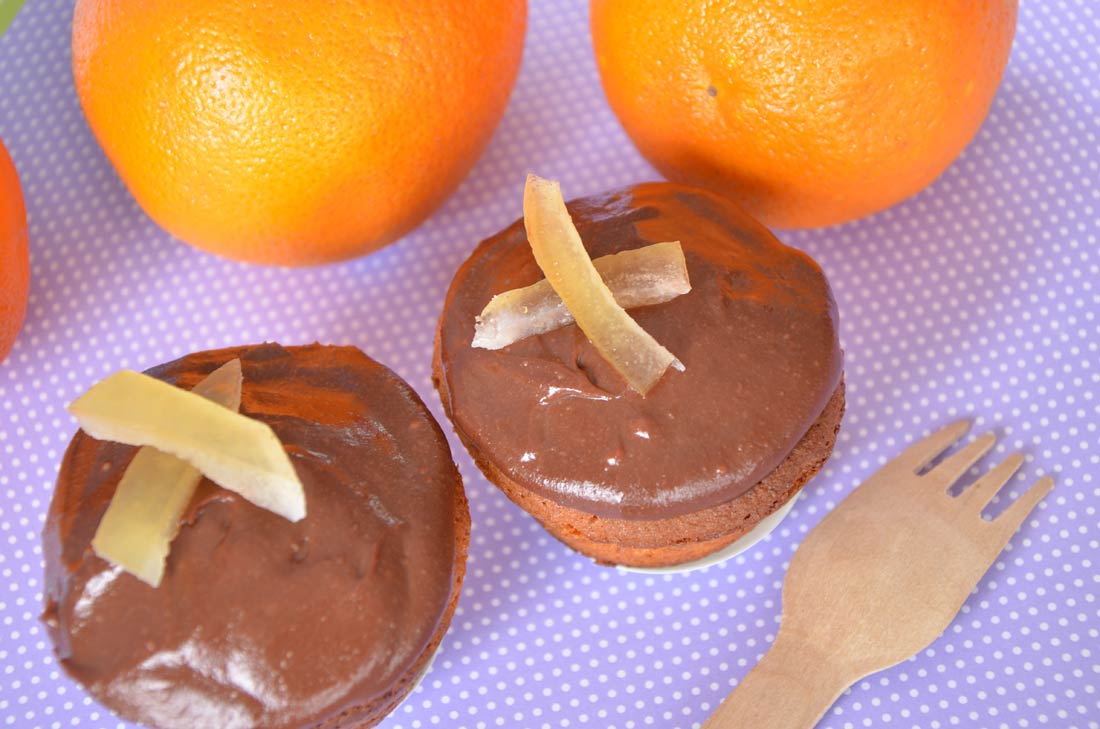Délicieux cupcakes chocolat orange sans gluten