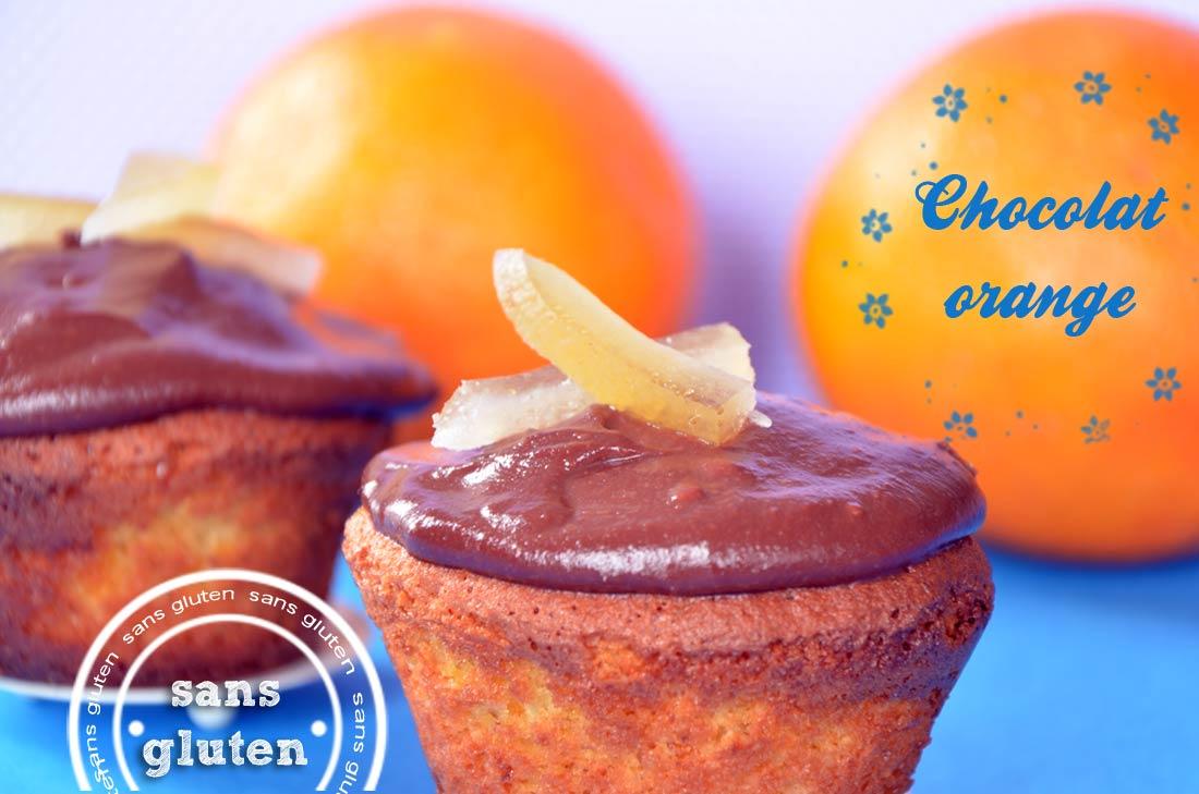 Cupcakes chocolat orange sans gluten