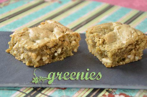 Greenies ou brownies au thé matcha