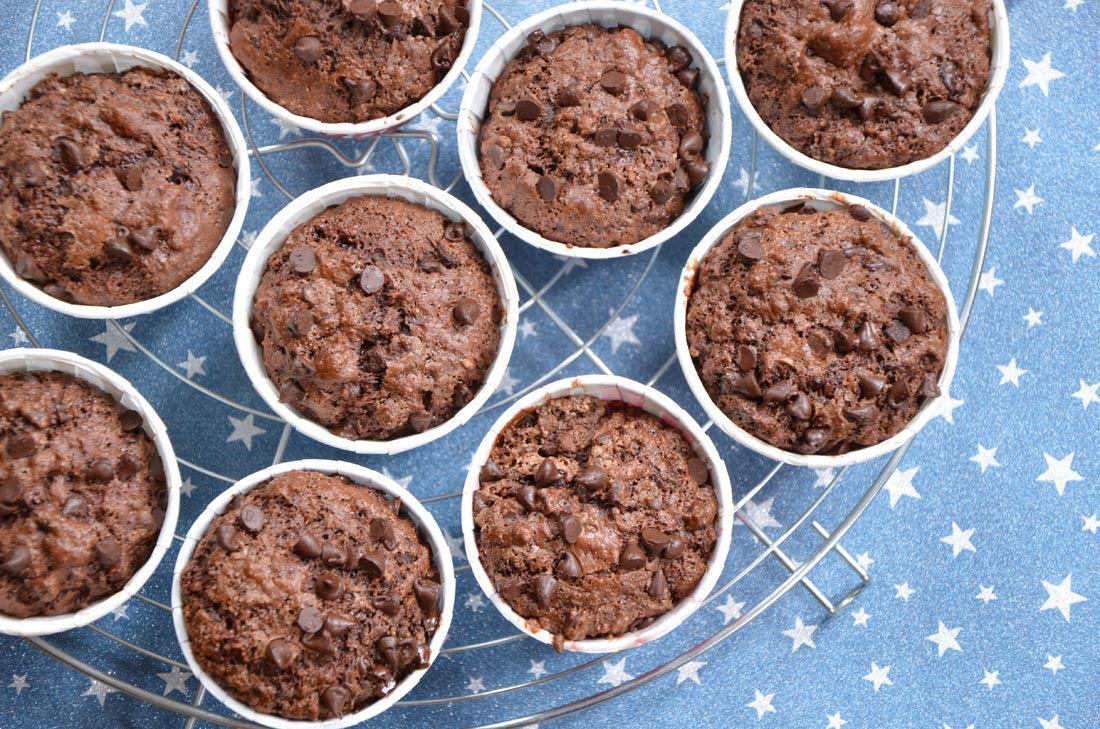 Recette délicieuse et gourmande de muffins double chocolat