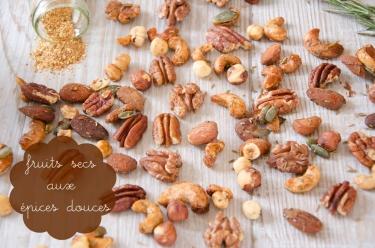 Mélange de fruits secs aux épices douces