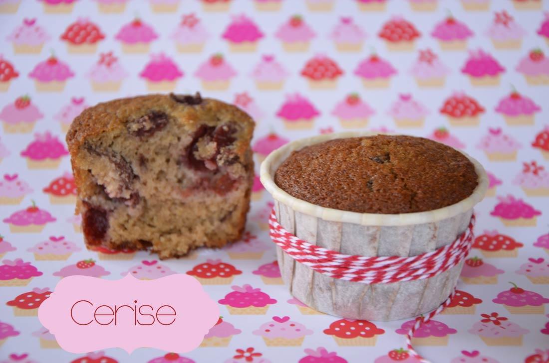 recette de muffins aux cerises