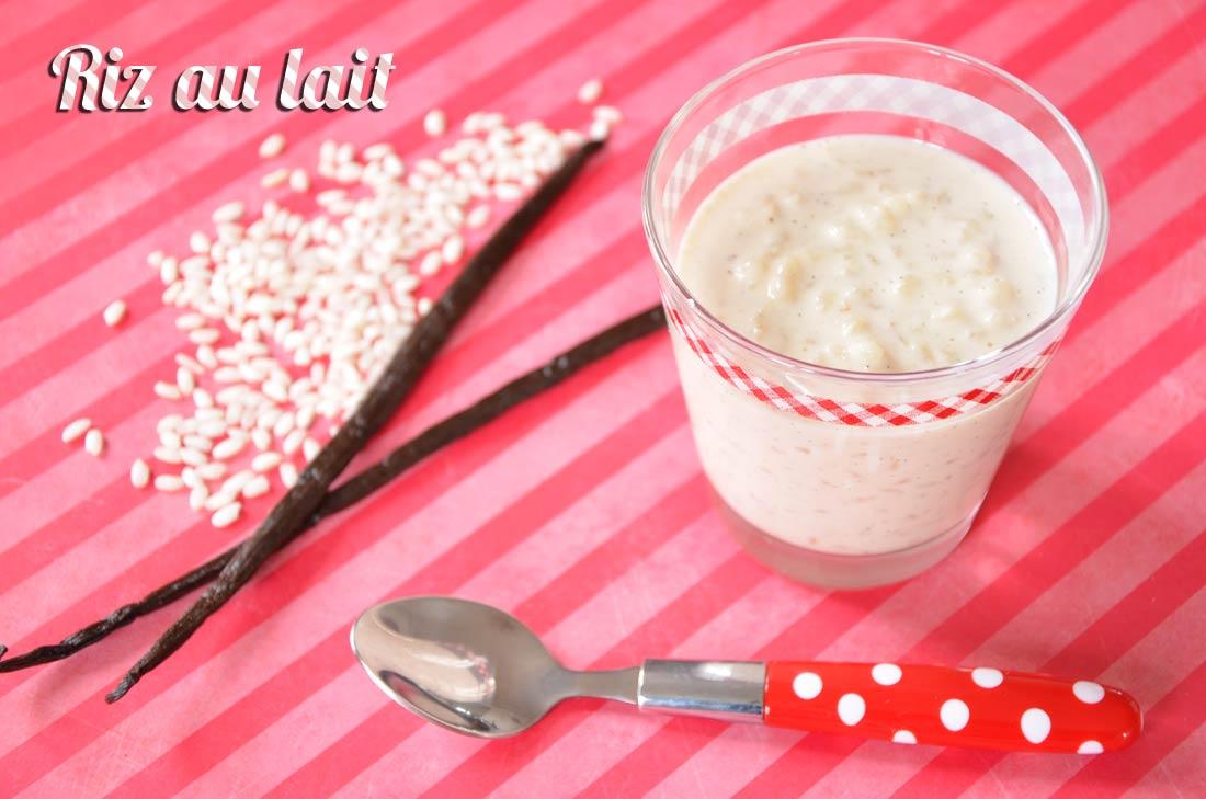 Riz au lait à la vanille
