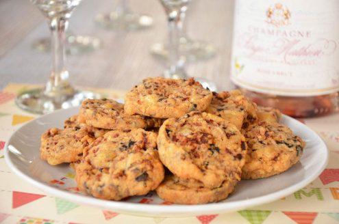 Recette de sablés au comté, chorizo et olives