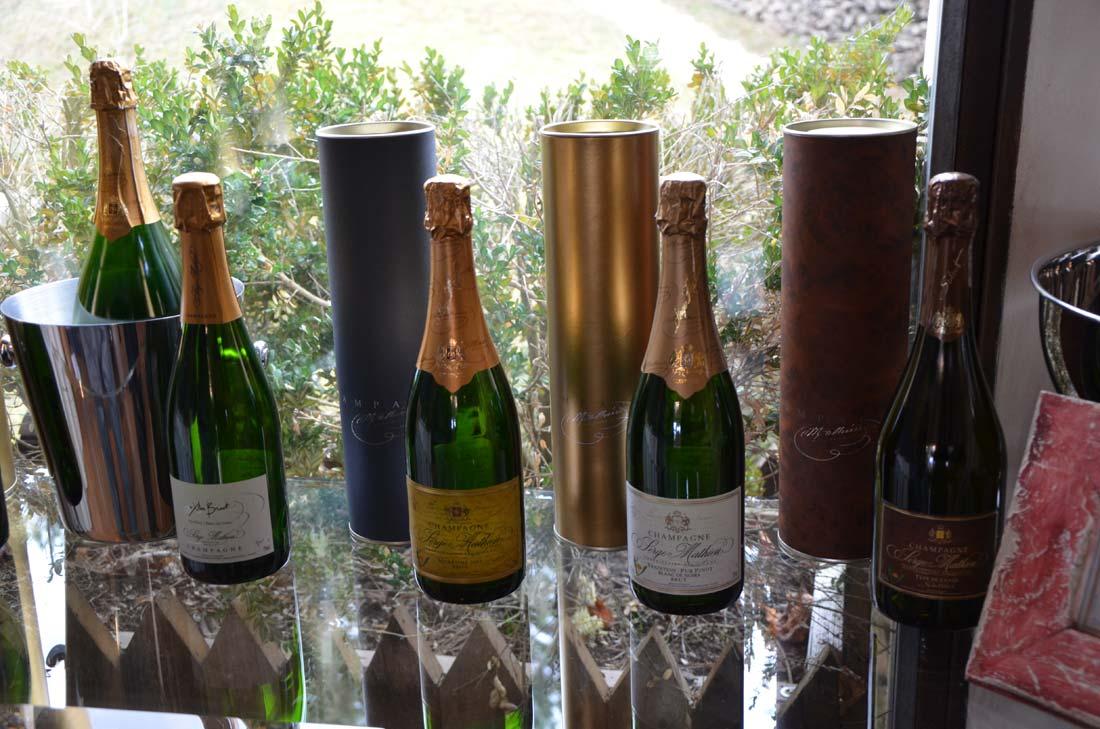 gamme de champagnes Serge Mathieu
