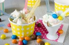 Crème glacée fondante aux MM's