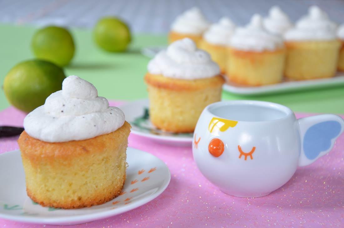 Recette originale de cupcakes noix de coco vanille et citron vert