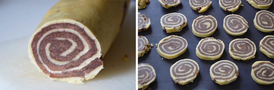 pas à pas spirales vanille chocolat