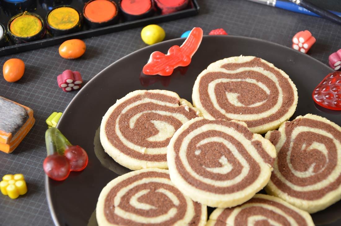 Biscuits pour le goûter : des spirales vanille chocolat