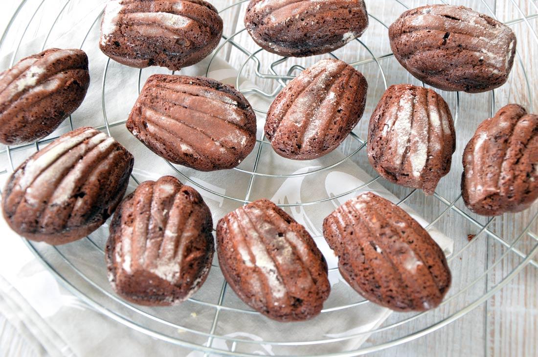 Recette de madeleines au chocolat de Jacques Genin