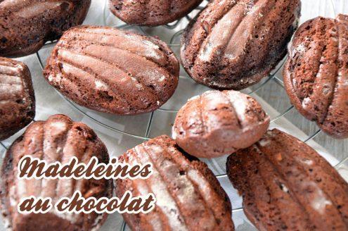 La recette des madeleines au chocolat de Jacques Genin