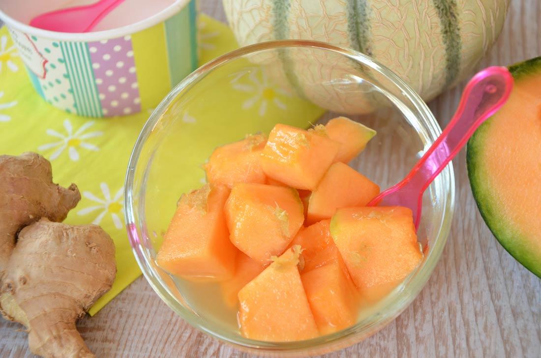 Melon frais au sirop de gingembre