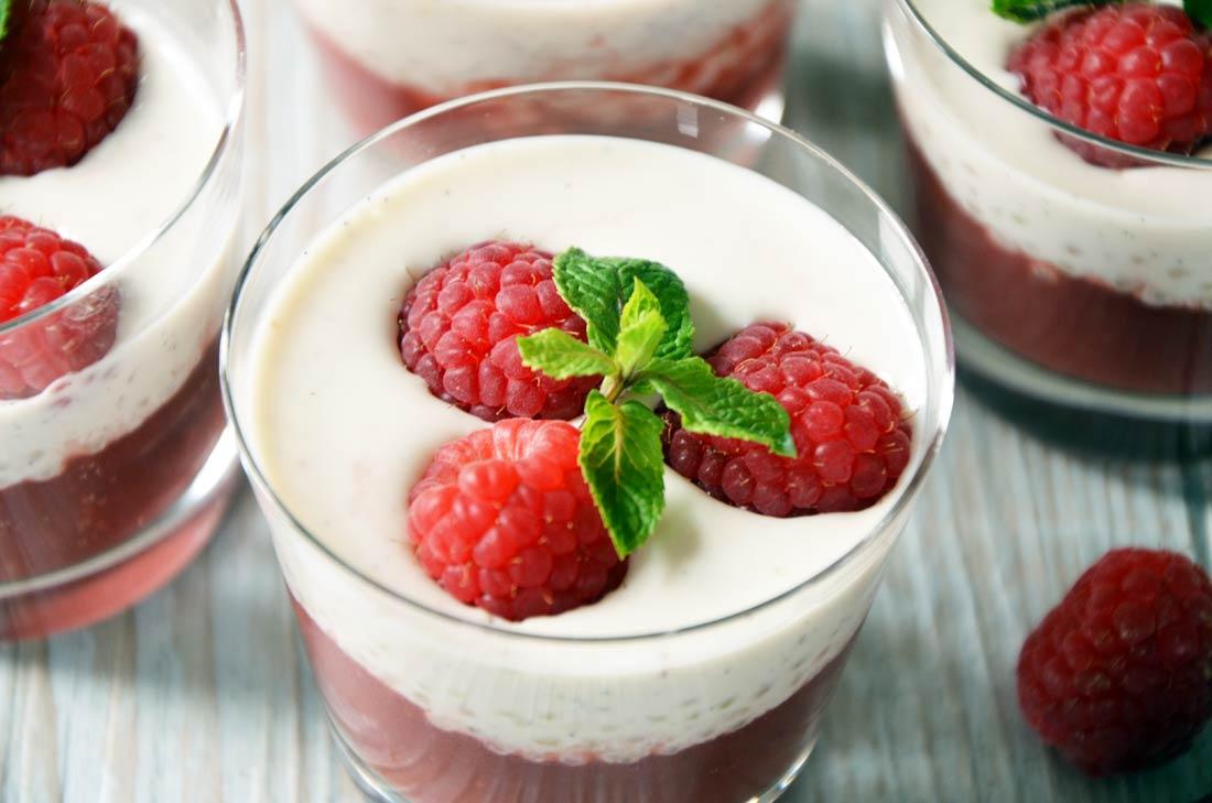 Recette de Perles du Japon, soupe de fraises et framboises