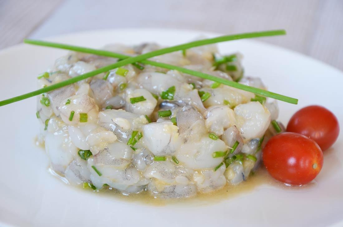 Recette fraiche de tartare de crevettes au gingembre