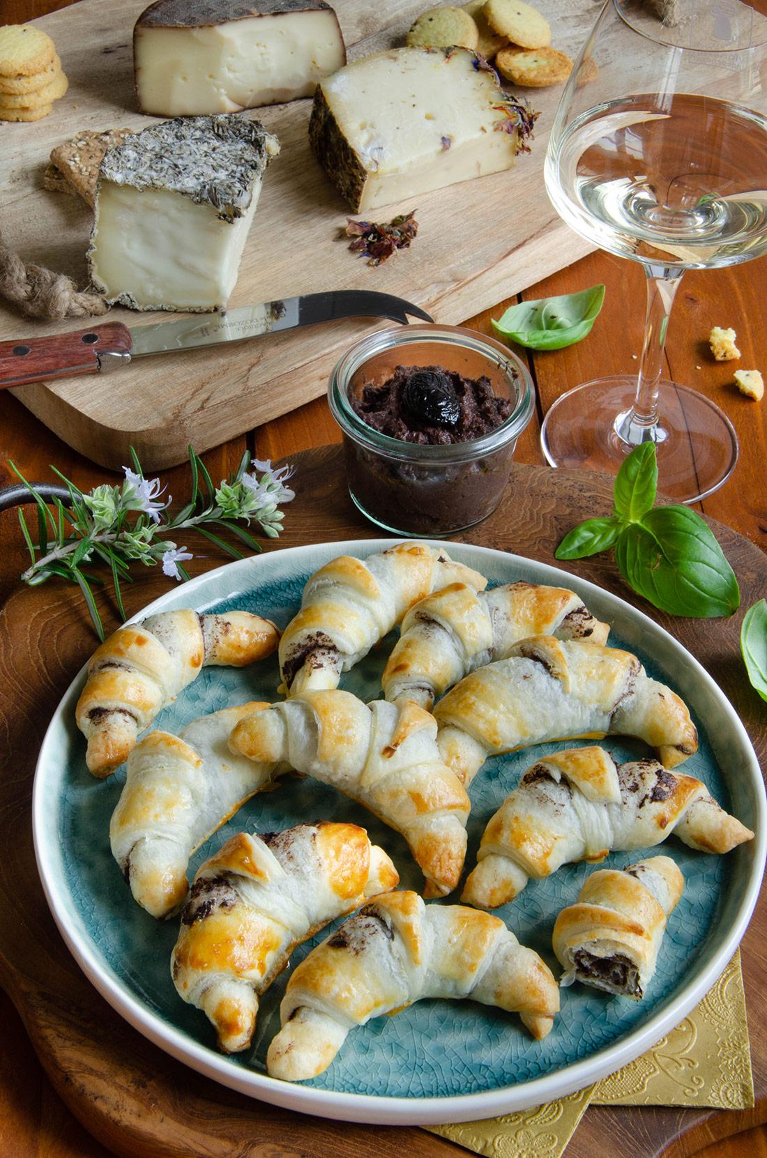 Recette de mini croissants aux anchois
