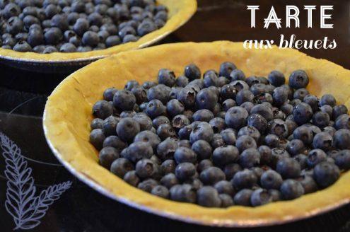 recette de tarte aux bleuets ou aux myrtilles