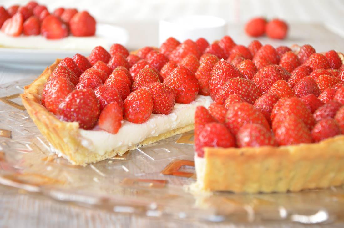 Délicieuse recette de tarte aux fraises style cheesecake