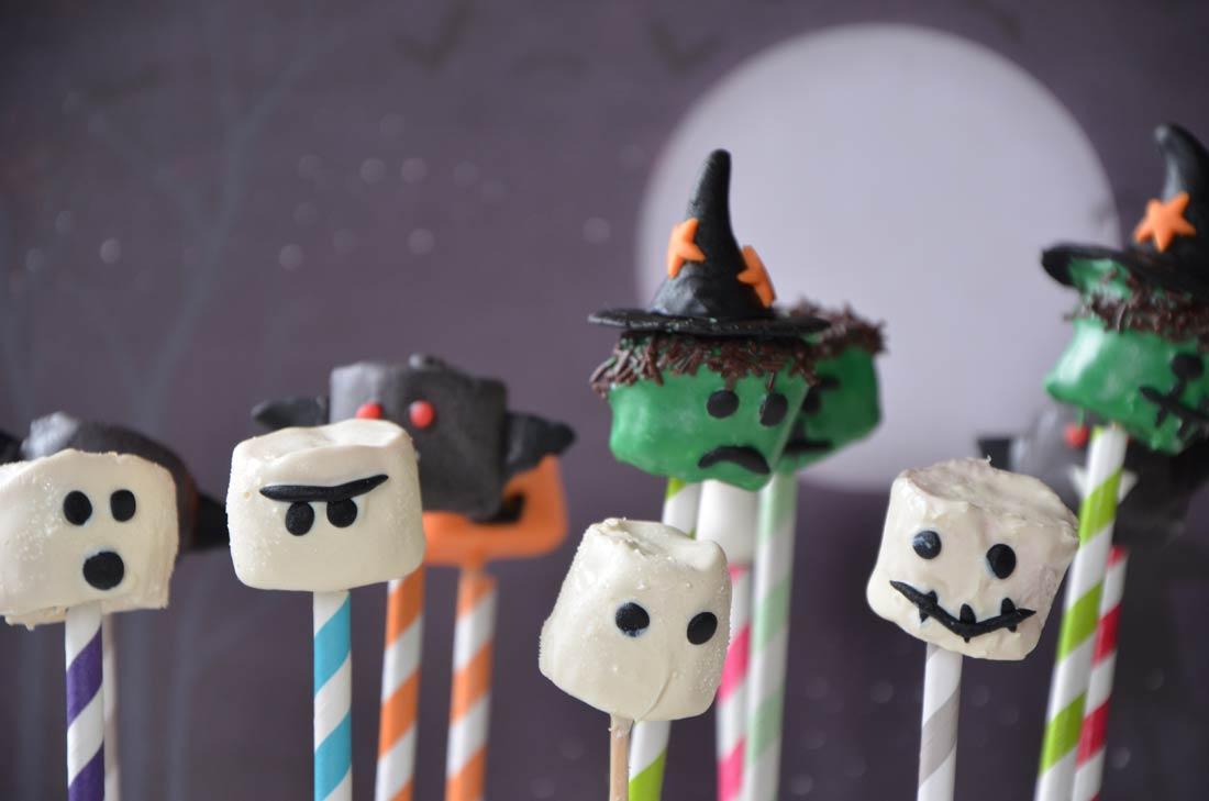 chamallows fantomes halloween