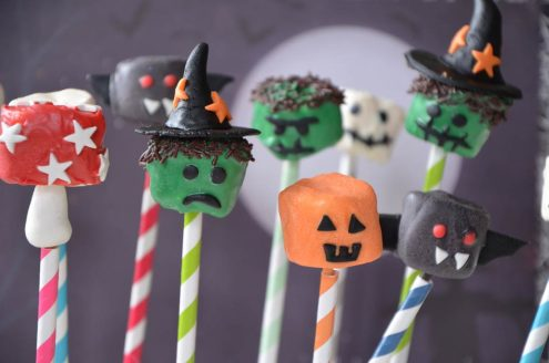chamallows monstres halloween