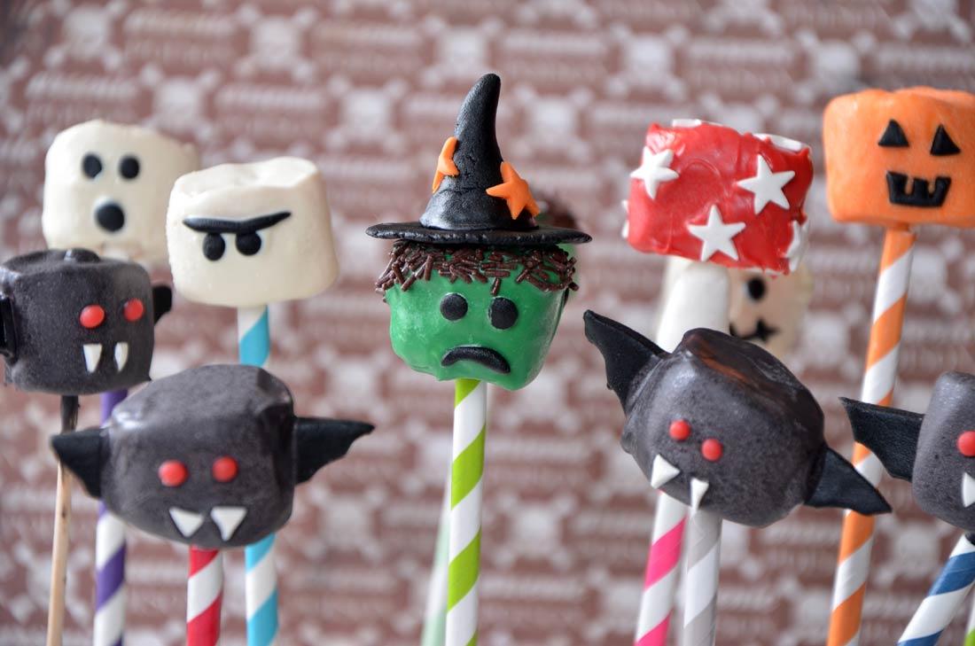 chamallows monstres d'halloween
