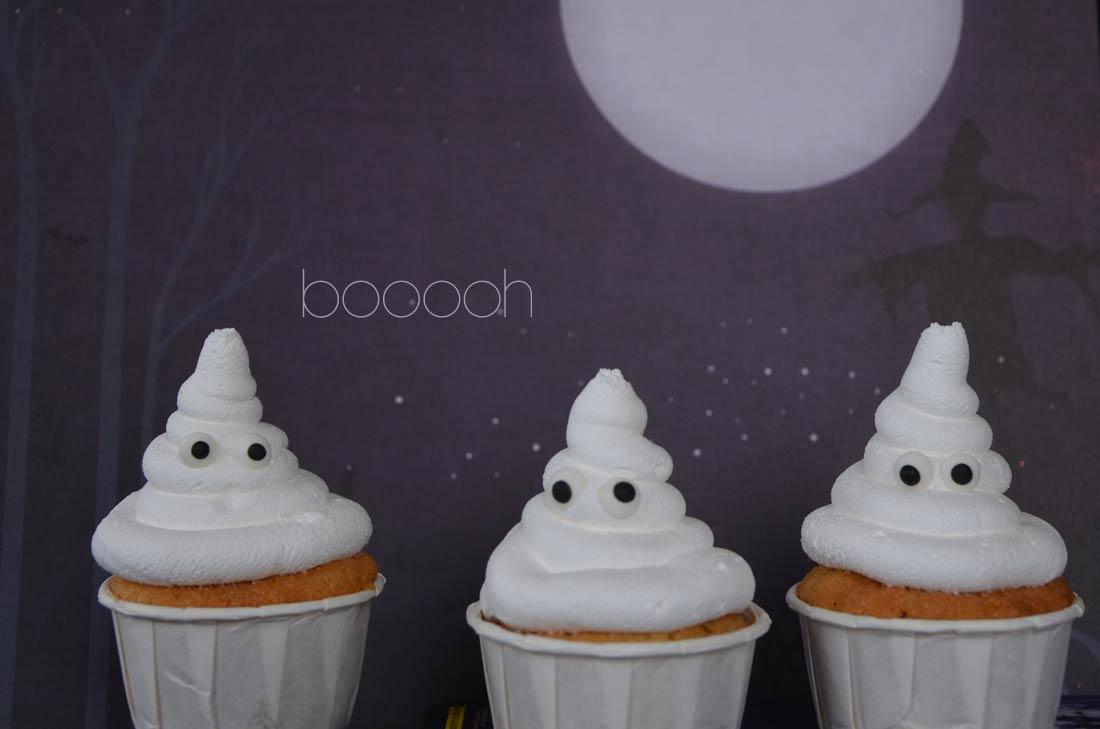 Recette de cupcakes fantômes sur Turbigo Gourmandises