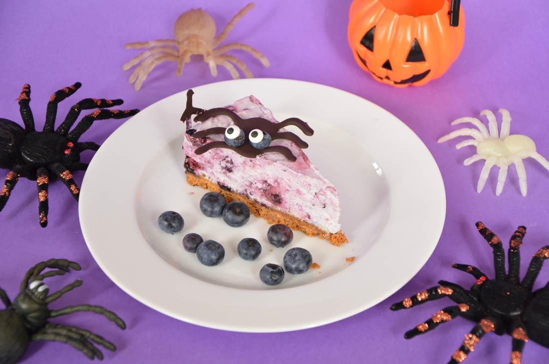 cheesecake aux myrtilles parfait pour halloween