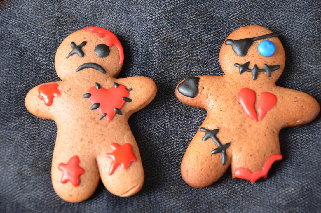 cookies voodoo, de délicieux biscuits gingerbread pour Halloween