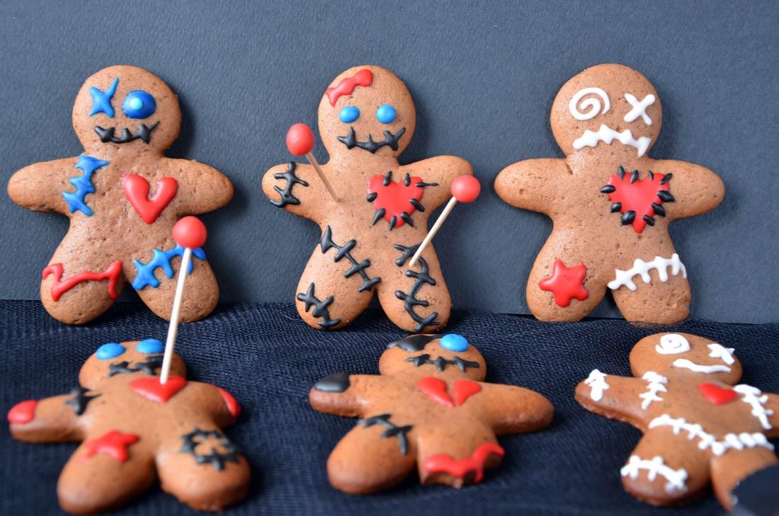 Recette de biscuits voodoo pour Halloween : des gingerbread plein de saveurs et effrayants !