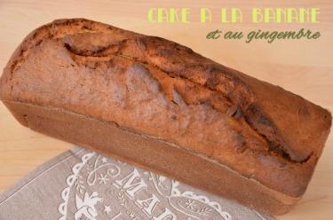 recette de cake à la banane et au gingembre