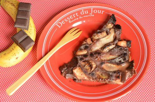Clafoutis chocolat bananes poires