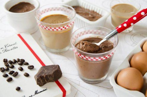 Recette de crèmes au chocolat ou au café d'après Bonne Maman