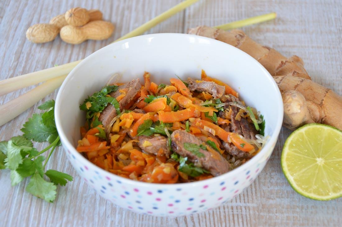 délicieuse recette de salade de boeuf thaïe