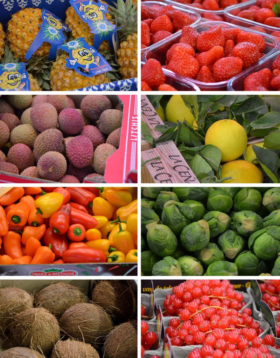 Pavillon fruits et légumes à Rungis