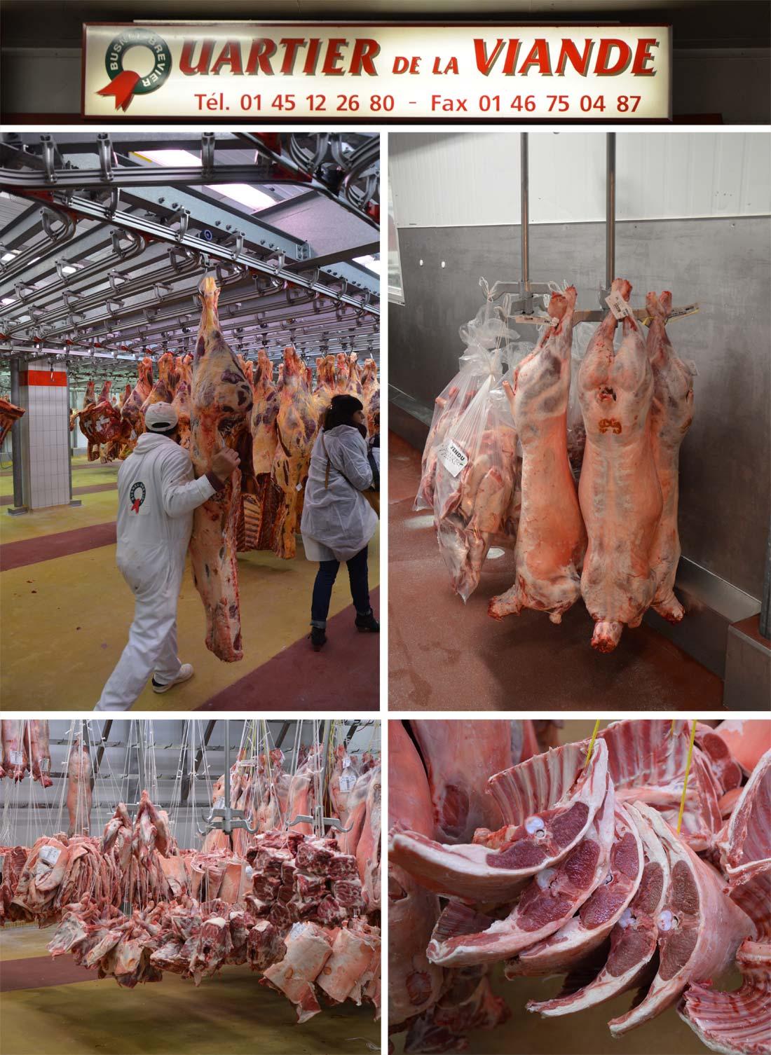 Pavillon de la viande à Rungis