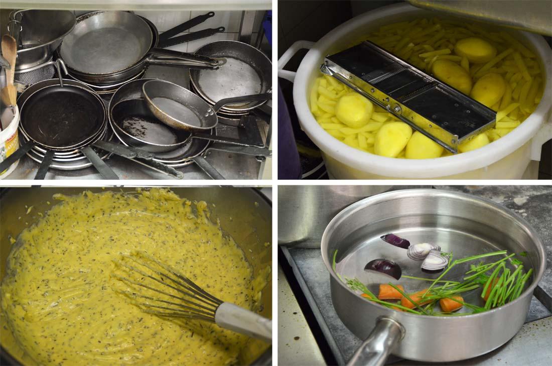 la cuisine du restaurant laloyau à Rungis