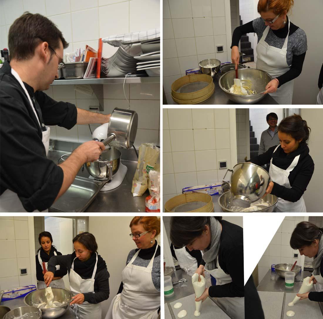 préparation des macarons