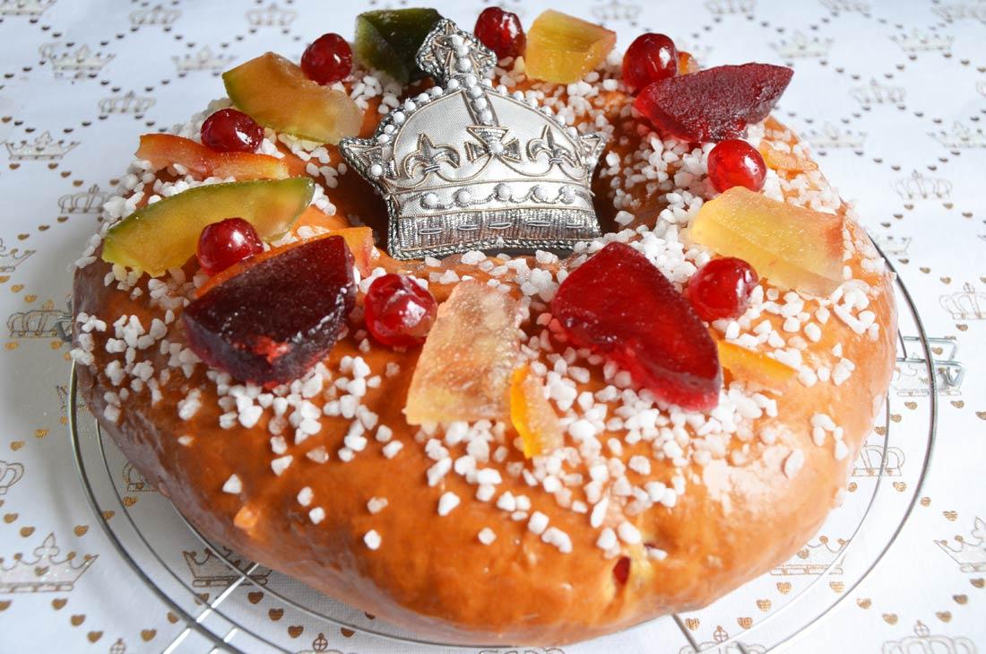 excellente brioche des Rois aux fruits confits