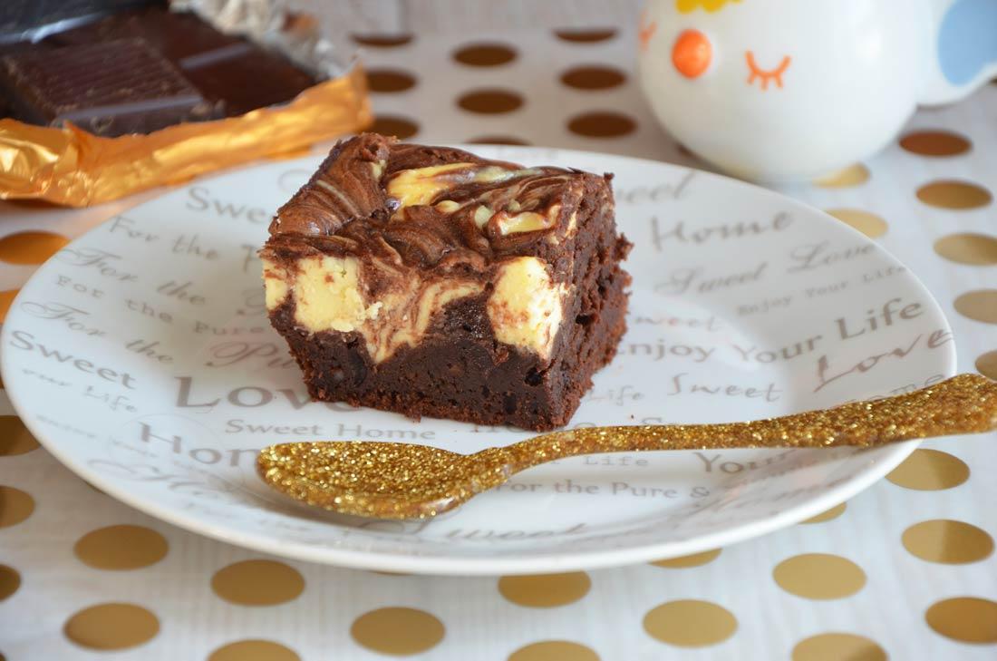 brownies cheesecake au chocolat
