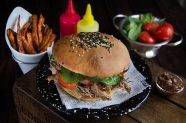 Hamburger au pulled pork