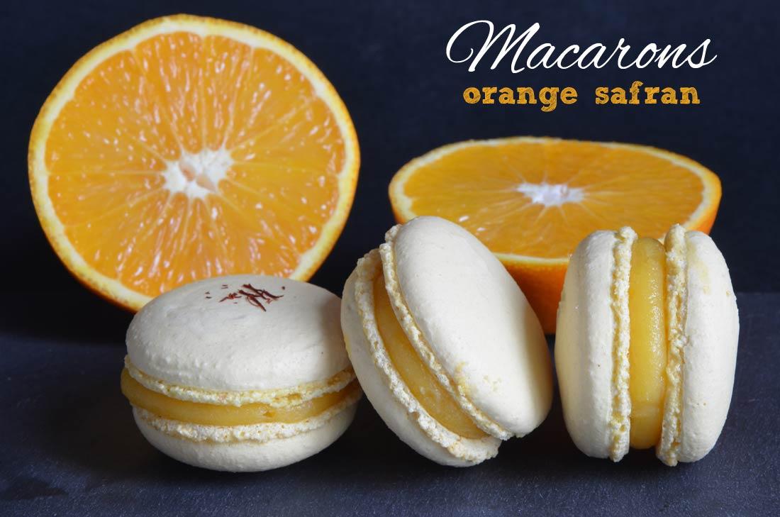 macarons à l'orange et au safran