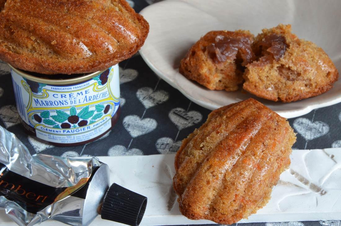 Délicieuses madeleines à la crème de marrons