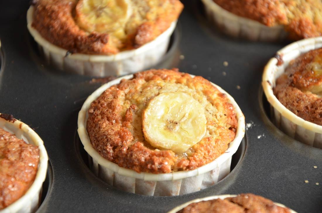 Recette de muffins banane et son