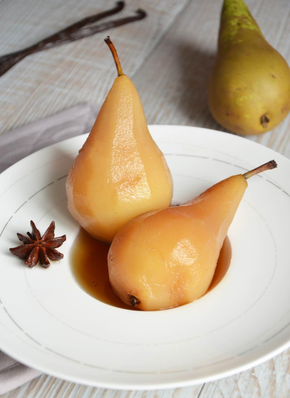recette de poires au sirop fait maison