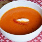 Soupe poivron rouge gingembre
