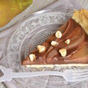 Tarte au chocolat et poires au sirop