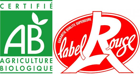label bio et label rouge