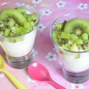 Verrines fruitées lait de coco kiwi
